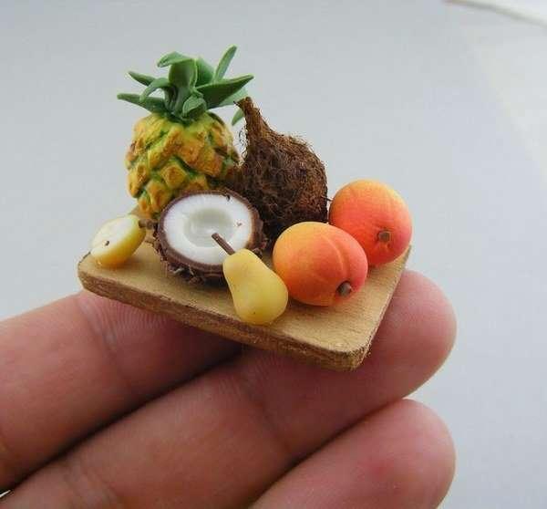 Крошечная еда из глины