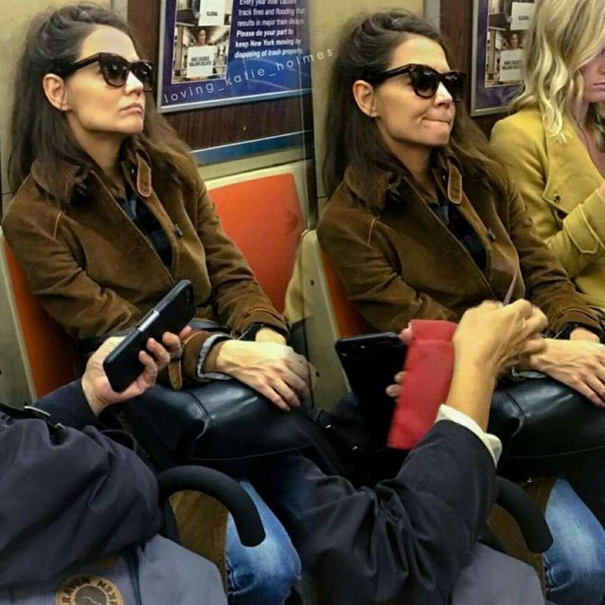 «Бедная девочка»: Кэти Холмс в Нью-Йоркском метро