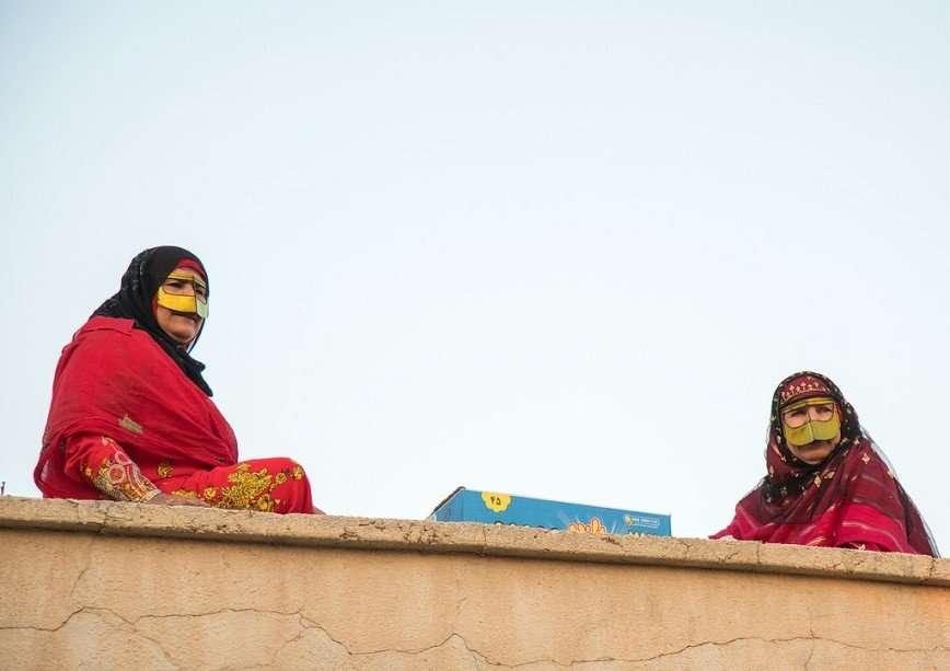 Традиционные маски иранских женщин